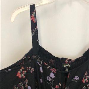 Jessica Simpson Romper 2X Plus Black Floral